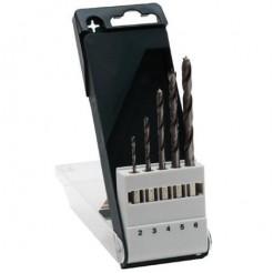 Bosch 5-dlg Houtboren-Set - met Zeskanten Opname